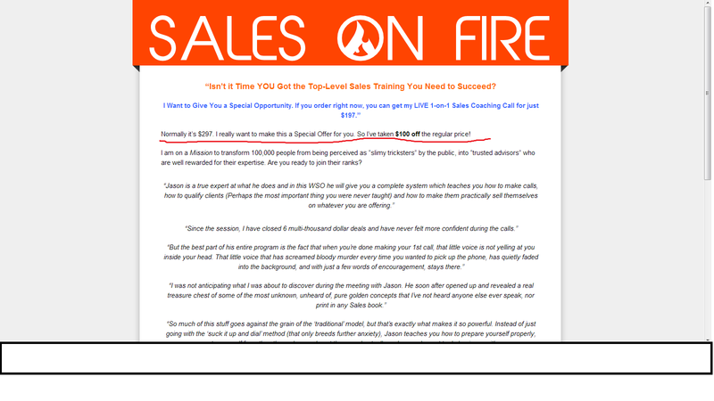 Sales-on-fire-training