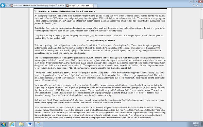 Joe-robinson-warrior-forum-apology.png1